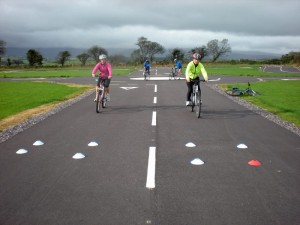Cyclists on the BDA's practice track