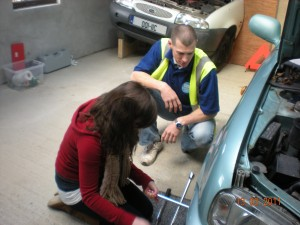 change a wheel in Bantry Driving Academy's car maintenance centre Bantry