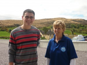 British Rally Champion Keith Cronin with Mary Keohane, Director of the Bantry Driving Academy